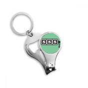 Winning Slot Machine Illustration Pattern Key Chain Ring Toe Nail Clipper Cutter Scissor Tool Kit Bottle Opener Gift