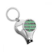 Slot Machine Winning Pattern Illustration Key Chain Ring Toe Nail Clipper Cutter Scissor Tool Kit Bottle Opener Gift