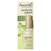 Aveeno Active Naturals Positively Radiant CC Cream SPF 30, Fair to Light Tinted Moisturiser, 70ml, 6 Pack