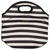 Living & Co Neoprene Lunch Bag Stripe Black/White