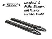 Skibinding Roller Ski Binding with Fixator for SNS Profil