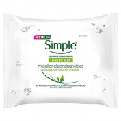 Simple Kind To Skin Micellar Cleansing Face Wipes 25 Pack