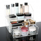 Cosmetic storage boxes cosmetic storage boxes cosmetics shelves Rotating Makeup and Jewellery Organiser Holder 360-Degree Adjustable Multifunctional Cosmetics Storage Box with Large Capacity by Boxalls Acrylic Cosmetic storage boxes