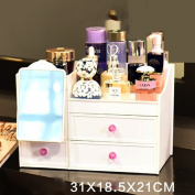 Cosmetic storage box Cosmetic Make Up Organiser with Drawers Makeup Organiser Cosmetic Jewerly Display Box Cosmetic Case Space Storage White Beauty Organiser Jewellery Cosmetic Accessories Make Up Storage Boxes