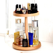 cosmetic storage box Wooden 360-degree rotating cosmetic storage rack wooden dresser storage rack desktop storage rack wooden skin care products storage cabinet small items racks wooden cosmetic box
