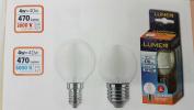LED Bulb Filament Saten Mini Globe 4 W = 40 W and 27 ATT Large