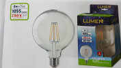 LED Filament Bulb Globo TRASP Sapphire 8 W = 75 W E27