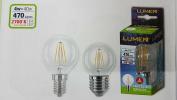 LED Filament Bulb Mini Globo TRASP 4 W = 40 W Sapphire and 14 ATT Small