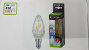 LED Filament Bulb 4 W = 40 W Twisted Candle TRASP Sapphire and 14 ATT Small
