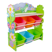 Fantasy Fields by Teamson Magic Garden Childrens Kids 6 Compartment Storage Cubby TD-12245A