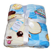 Luxury Boy Large Super Soft Fleece Baby Blanket With Animal Print for Car Seat, Cot, Pram