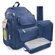 Changing Backpack Baby Bag Nappy Nappy Lightweight Waterproof Large Travel Rucksack Changing Pad Premium Oxford Stroller Straps Men Ladies Blue