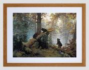 SHISHKIN MORNING IN PINE FOREST FRAMED ART PRINT B12X422