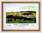 TRAVEL KENDAL CUMBRIA ENGLAND UK LAKE DISTRICT VALLEY FRAMED ART PRINT B12X7960