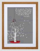 AUDREY HEPBURN INTROVERT OUTDOOR TREE QUOTE TYPOGRAPHY FRAMED PRINT B12X13757