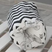KempKids. Breastfeeding Nursing Arm Pillow, Size 20 cm (W) x 30 cm (L), Black Zigzags