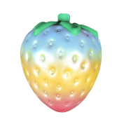 Strawberry Squishy Toy, Fat.chot Soft Simulation Rainbow Fruit Slow Rising Squeeze Toy New Year Christmas Party Decoration Relieves Stress Relax Decompression Toys Gift for Kids Adult