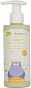 LA SAPONARIA - Organic Bath for Hair & Body - Very mild cleansing for little ones - Tear-free formula - Use as a bath additive - Skin-soothing - Vegan - 200 ml