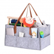 Foldable Nappy Caddy Storage Bag Children Toys Organising Tote Organiser Nursery Storage Baby Wipes Bag