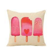 Bluelans Love Heart Linen Throw Pillow Case Sofa Bed Home Car Decor Cushion Cover