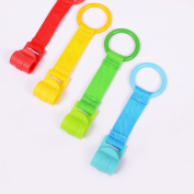 Crib Hook, HBF 6Pcs Stylish Solid Colour Baby Bed Hook Durable Crib Pull Ring for Baby Game Stand