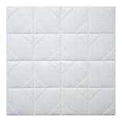 3D Brick Wall Stickers WINOMO Self Adhesive Wall Tiles Foam Removable Wallpaper White Waterproof 60x60cm