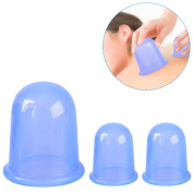 ETEREAUTY Cellulite Cup 3Pcs Silicone Body Massage Cups and 1Pcs Cleaning Cloth
