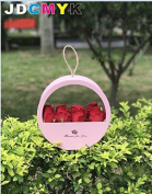 Portable round window soap flower box flower gift box creative flower box wedding party gift box