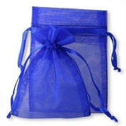 100 Royal Blue Organza Wedding Favour Bags Jewellery Pouches 9cm x 12cm without free gifts