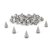 50 Pieces of 20mm Silver Cone Screwback Punk Style Spikes Studs For Bag Clothes Jacket Shoe by Trimming Shop