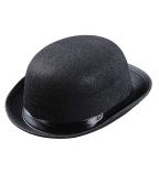 kimberleystore Child Kids Magic Bowler Hats Caps Headwear for Fancy Dress Costumes (Black)