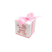 Candy Box, Lance Home 50pcs Baby Shower Stroller Candy Gift Boxes Wedding Favours, Pink