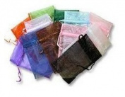 50 Black jewellery wedding organza gift bags 10x15cm distribute and sold by WayGo