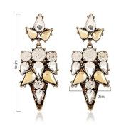 Xinmaoyuan Wedding Jewellery European And American Popular High-End Blade Vintage Crystal Earrings Gold Stud Earrings Fashion Jewellery Ear , Yellow Wedding Gift Birthday Present Holiday Gift
