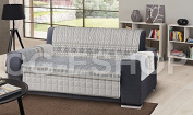 Quilted Armchair 1 POSTO Drawing Shabby 5 Grey