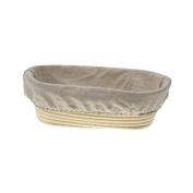OBeauty 25X15X8CM 10 Inch Oval Banneton Proofing Basket Sourdough Banneton Brotform Dough Proofing Rattan Bread / Loaf Basket