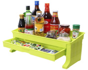 kitchen With drawers Double plastic condiment Shelf
