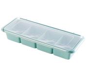 kitchen plastic seasoning box salt MSG Sauce cans , blue