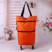 moxin Shopping Basket Bag Shopping Bag Bag Folding of Tugboat Trolley, 20L