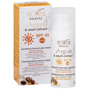 Snail Extract + Argan Oil Sun Protection SPF30 Cream - Natural Ingredients - Regenerates and Protects the Skin in the Summer and Winter from Both UVA and UVB Rays