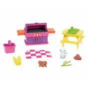 Nickelodeon Dora the Explorer Playtime Together Deluxe Backyard BBQ Dollhouse Furniture