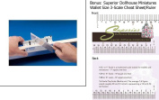 Easy Mitre Box Deluxe w/3-Scale Wallet Ruler