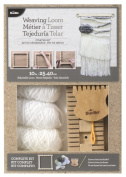 25cm Weaving Loom Starter Kit, Fully adjustable loom kit with everything to start a project By Bucilla