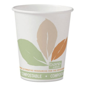 SOLO Cup Company Bare by Solo Eco-Forward PLA Paper Hot Cups, 300ml, Leaf Design,50/Bag,20 Bags/Ct