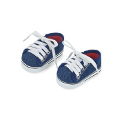 46cm Doll Clothes| 1 Pair Basic Denim Doll Sneakers |Fits American Girl Dolls