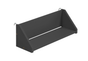 "Design Vicenza ""Goro"" Large Reversible Clip On Shelf, Wood, Graphite"
