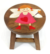 Fairy Stool Wooded Childs Kids Small H:25cm x W:25cm