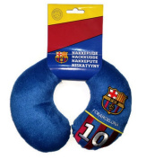 Childs Barcelona FC Number 10 football Travel pillow - Aeroplane Pillow - Neck support