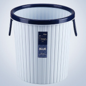 BLJRGS Plastic Baskets Round Pressing Ring Trash Can Household Office Rubbish Bin with Lifting Handle