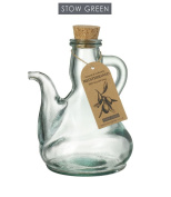 Stow Green Mediterraneo Catalan Olive Oil Bottle Clear Green Recycled Glass Large 500ml